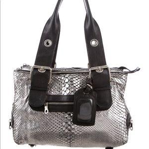 Chloe | 100% Auth Metallic python shoulder bag
